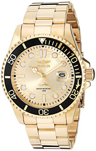 腕時計 インヴィクタ インビクタ プロダイバー メンズ 【送料無料】Invicta Men's Pro Diver Quartz Watch with Stainless Steel Strap, Gold, 22 (Model: 30025)腕時計 インヴィクタ インビクタ プロダイバー メンズ