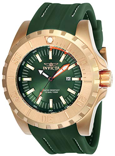 インヴィクタ インビクタ プロダイバー 腕時計 メンズ 【送料無料】INVICTA Pro Diver Men 52mm Stainless Steel Rose Gold Green dial PC32 Quartzインヴィクタ インビクタ プロダイバー 腕時計 メンズ