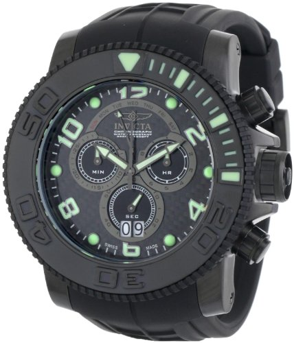 インヴィクタ インビクタ プロダイバー 腕時計 メンズ 【送料無料】Invicta Men's 0414 Pro Diver Collection Sea Hunter Chronograph Black Polyurethane Watchインヴィクタ インビクタ プロダイバー 腕時計 メンズ