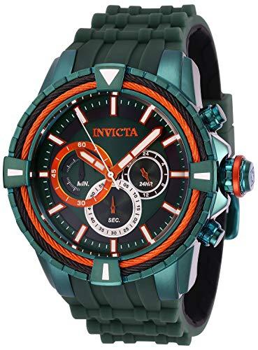 インヴィクタ インビクタ ボルト 腕時計 メンズ 【送料無料】Invicta Men's Bolt Stainless Steel Quartz Watch with Silicone Strap, Green, 28 (Model: 29082)インヴィクタ インビクタ ボルト 腕時計 メンズ