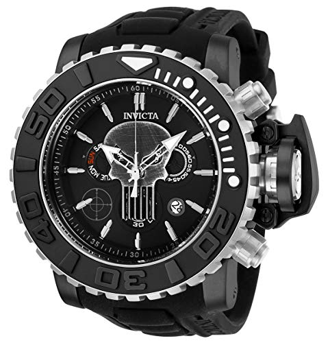 インヴィクタ インビクタ 腕時計 メンズ 【送料無料】Invicta Men's Marvel Stainless Steel Quartz Watch with Silicone Strap, Black, 30 (Model: 26786)インヴィクタ インビクタ 腕時計 メンズ