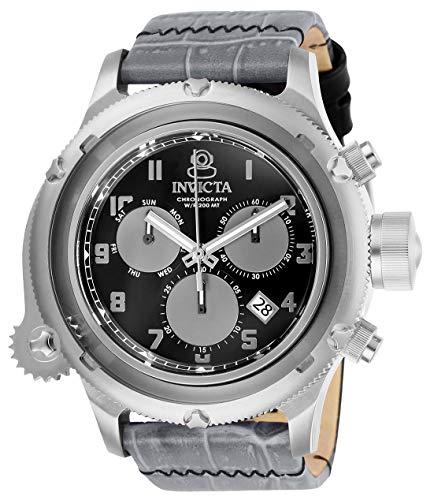 インヴィクタ インビクタ 腕時計 メンズ 【送料無料】Invicta Men's Russian Diver Stainless Steel Quartz Watch with Leather Strap, Gray, 26 (Model: 26456)インヴィクタ インビクタ 腕時計 メンズ