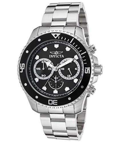 インヴィクタ インビクタ 腕時計 メンズ 【送料無料】Invicta 21787 Men's Pro Diver Chrono Stainless Steel Black Dial Watchインヴィクタ インビクタ 腕時計 メンズ