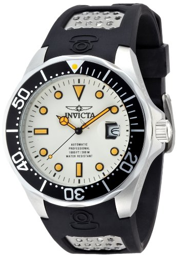 インヴィクタ インビクタ 腕時計 メンズ Invicta Men's 11753BYB Grand Diver Automatic White Dial Polyurethane Watchインヴィクタ インビクタ 腕時計 メンズ