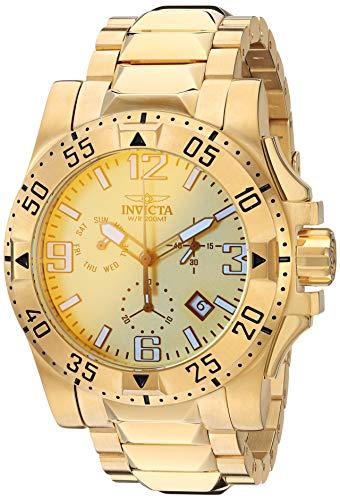 """インヴィクタ インビクタ 腕時計 メンズ 【送料無料】Invicta Men""""s Excursion Quartz Watch with Stainless Steel Strap, Gold, 26 (Model: 29826)インヴィクタ インビクタ 腕時計 メンズ"""