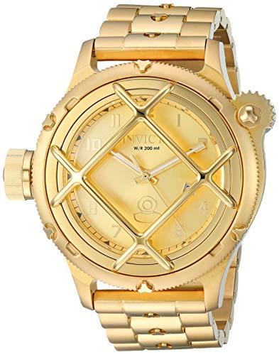 インヴィクタ インビクタ 腕時計 メンズ Invicta Men's Russian Diver Quartz Watch with Stainless-Steel Strap, Gold, 25.8 (Model: 26466)インヴィクタ インビクタ 腕時計 メンズ