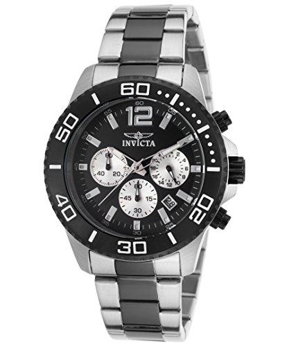インヴィクタ インビクタ 腕時計 メンズ 【送料無料】Invicta 17401 Men's Pro Diver Chrono Two-Tone Stainless Steel Black Dial Watchインヴィクタ インビクタ 腕時計 メンズ