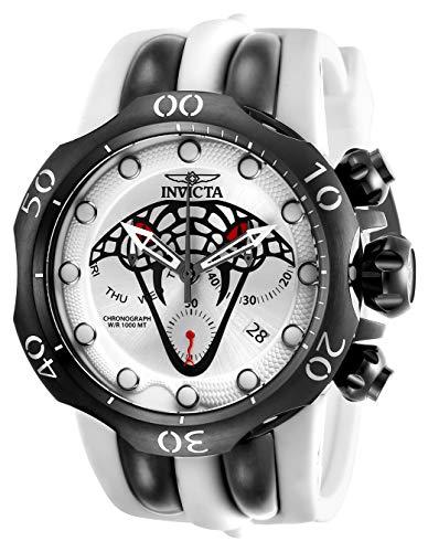 インヴィクタ インビクタ 腕時計 メンズ Invicta Men's Venom Stainless Steel Quartz Watch with Silicone Strap, White, 36 (Model: 28385)インヴィクタ インビクタ 腕時計 メンズ