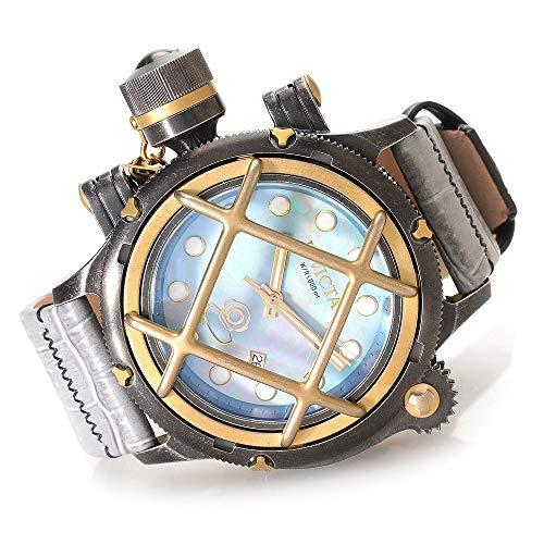 インヴィクタ インビクタ 腕時計 メンズ 【送料無料】Invicta 52mm Russian Diver Nautilus Swiss Made ETA 2824 Automatic Leather Strap Watchインヴィクタ インビクタ 腕時計 メンズ
