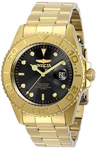 インヴィクタ インビクタ 腕時計 メンズ 【送料無料】Invicta Men's Pro Diver Quartz Watch with Stainless Steel Strap, Gold, 22 (Model: 29946)インヴィクタ インビクタ 腕時計 メンズ