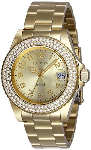 インヴィクタ インビクタ 腕時計 レディース 【送料無料】Invicta Women's Angel Quartz Watch with Stainless Steel Strap, Gold, 20 (Model: 28673)インヴィクタ インビクタ 腕時計 レディース