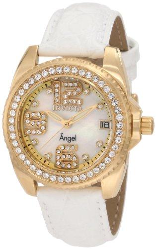 インヴィクタ インビクタ 腕時計 レディース 【送料無料】Invicta Women's 1116 Angel Crystal Accented Mother of Pearl Dial Interchangeable Leather Watchインヴィクタ インビクタ 腕時計 レディース
