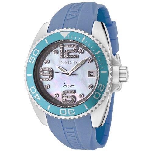インヴィクタ インビクタ 腕時計 レディース 【送料無料】Invicta Women's 0496 Angel Collection Diamond Accented Blue Polyurethane Watchインヴィクタ インビクタ 腕時計 レディース