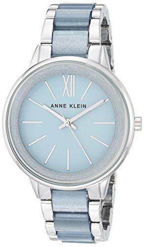アンクライン 腕時計 レディース Anne Klein Women's AK/1413LBSV Silver-Tone and Light Blue Resin Bracelet Watchアンクライン 腕時計 レディース