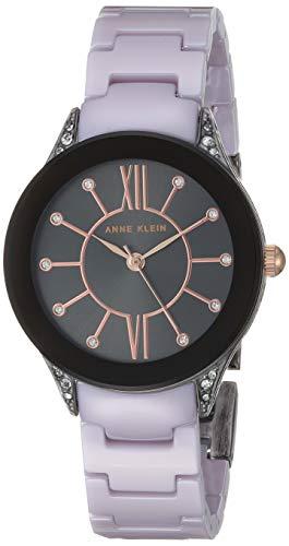 アンクライン 腕時計 レディース 【送料無料】Anne Klein Women's AK/2389GYLV Swarovski Crystal Accented Lavender Bracelet Watchアンクライン 腕時計 レディース