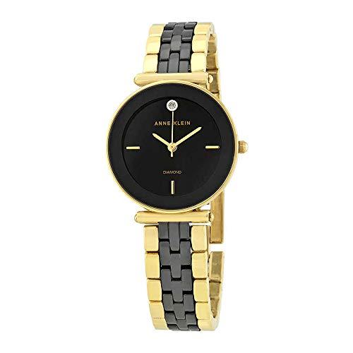アンクライン 腕時計 レディース 【送料無料】Anne Klein Black Dial Ladies Watch 3158BKGBアンクライン 腕時計 レディース