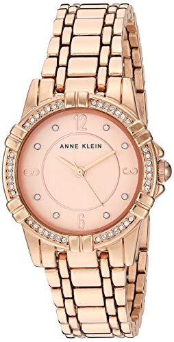 アンクライン 腕時計 レディース 【送料無料】Anne Klein Women's Swarovski Crystal Accented Rose Gold-Tone Bracelet Watch, AK/3482RGRGアンクライン 腕時計 レディース