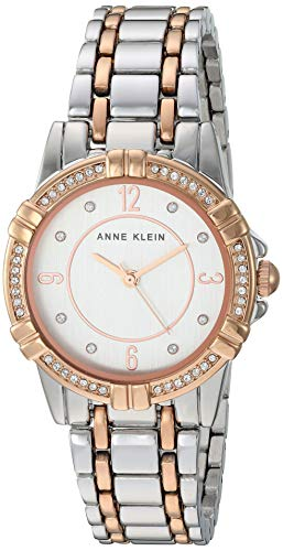 アンクライン 腕時計 レディース 【送料無料】Anne Klein Women's Swarovski Crystal Accented Silver-Tone and Rose Gold-Tone Bracelet Watch, AK/3483SVRTアンクライン 腕時計 レディース