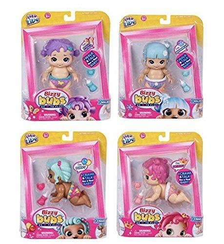 リトルライブペッツ ぬいぐるみ リアル 動く 鳴く 【送料無料】Little Live Bizzy Bubs 4 Pack (Primmy, Poppy, Polly Petals, Snowbeam) - Interactive Baby Dollリトルライブペッツ ぬいぐるみ リアル 動く 鳴く