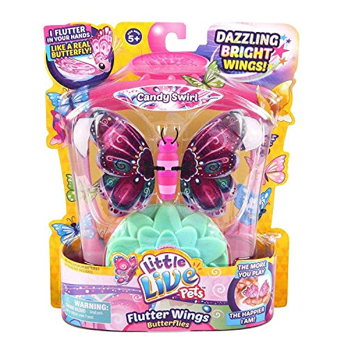 超歓迎された 無料ラッピングでプレゼントや贈り物にも 逆輸入並行輸入送料込 リトルライブペッツ ぬいぐるみ リアル 動く 鳴く 送料無料 Little Live Pets Candy From Dispatched - Swirl UK 内祝い Butterflies 3 Series