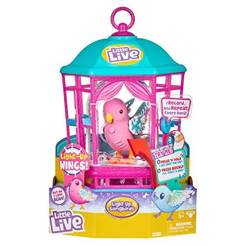 リトルライブペッツ ぬいぐるみ リアル 動く 鳴く 【送料無料】Little Live Pets Bird with Cage - Rainbow Glow - Styles May Varyリトルライブペッツ ぬいぐるみ リアル 動く 鳴く
