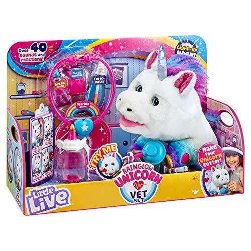 リトルライブペッツ ぬいぐるみ リアル 動く 鳴く 【送料無料】Little Live Pets Rainglow Unicorn Vet Set - Interactive Pet Unicorn, Multicolorリトルライブペッツ ぬいぐるみ リアル 動く 鳴く