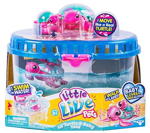 リトルライブペッツ ぬいぐるみ リアル 動く 鳴く 【送料無料】Little Live Pets Season 5 Lil' Turtle Tank - Seashore The Reef Turtle and Babyリトルライブペッツ ぬいぐるみ リアル 動く 鳴く