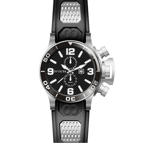 インヴィクタ インビクタ 腕時計 メンズ 80204 Invicta 80204 Men's Corduba Black Carbon Fiber Dial Black Rubber Strap GMT Dive Watchインヴィクタ インビクタ 腕時計 メンズ 80204