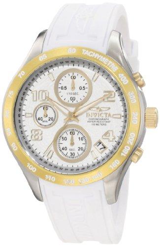 インヴィクタ インビクタ 腕時計 レディース 12096 【送料無料】Invicta Women's 12096 Specialty Chronograph White Rubber Watchインヴィクタ インビクタ 腕時計 レディース 12096