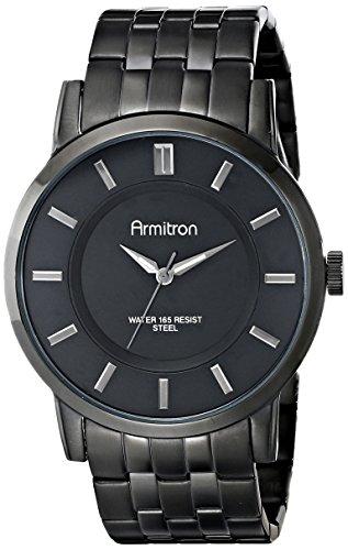 腕時計 アーミトロン メンズ 20/4962BKTI 【送料無料】Armitron Men's 20/4962BKTI Black Ion-Plated Bracelet Watch腕時計 アーミトロン メンズ 20/4962BKTI