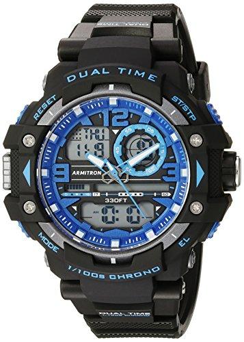 アーミトロン 腕時計 メンズ 20/5062BLU 【送料無料】Armitron Sport Men's 20/5062BLU Blue Accented Analog-Digital Chronograph Black Resin Strap Watchアーミトロン 腕時計 メンズ 20/5062BLU