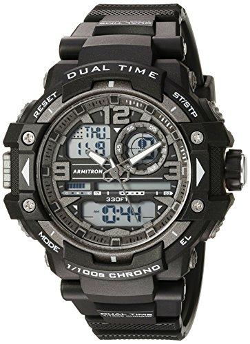 アーミトロン 腕時計 メンズ 20/5062BLK 【送料無料】Armitron Sport Men's 20/5062BLK Analog-Digital Chronograph Black Resin Strap Watchアーミトロン 腕時計 メンズ 20/5062BLK