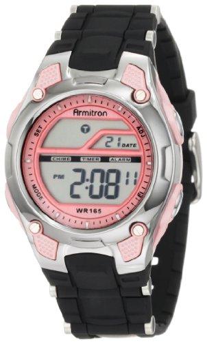 アーミトロン 腕時計 レディース 45/6984PNK 【送料無料】Armitron Sport Women's 456984PNK Pink and Black Chronograph Digital Watchアーミトロン 腕時計 レディース 45/6984PNK