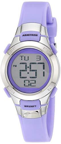 アーミトロン 腕時計 レディース 45/7012PRSV 【送料無料】Armitron Sport Women's 45/7012PRSV Purple and Silver-Tone Digital Watchアーミトロン 腕時計 レディース 45/7012PRSV