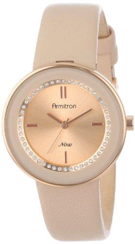 アーミトロン 腕時計 レディース 75/5124RSRGBH 【送料無料】Armitron Women's 75/5124RSRGBH Rose Gold-Tone Watch with Swarovski Crystals and Leather Strapアーミトロン 腕時計 レディース 75/5124RSRGBH