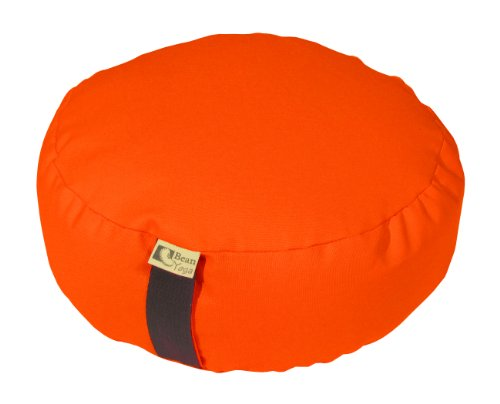 ヨガ フィットネス 【送料無料】Bean Products Tangerine - Round Zafu Meditation Cushion - Yoga - 10oz Cotton - Organic Buckwheat Fill - Made in USAヨガ フィットネス