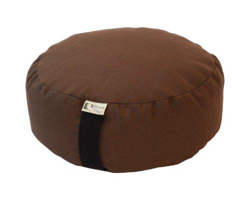 ヨガ フィットネス 【送料無料】Bean Products Mocha - Oval Zafu Meditation Cushion - Yoga - 10oz Cotton - Organic Buckwheat Fill - Made in USAヨガ フィットネス