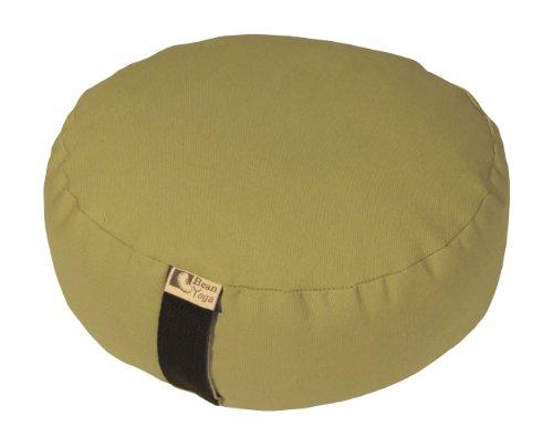 ヨガ フィットネス 【送料無料】Bean Products Khaki - Round Zafu Meditation Cushion - Yoga - 10oz Cotton - Organic Buckwheat Fill - Made in USAヨガ フィットネス
