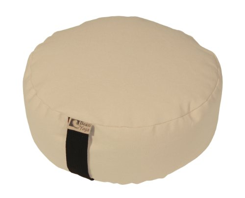 ヨガ フィットネス Bean Products NATURAL - Oval Zafu Meditation Cushion - Yoga - 10oz Cotton - Organic Buckwheat Fill - Made in USAヨガ フィットネス
