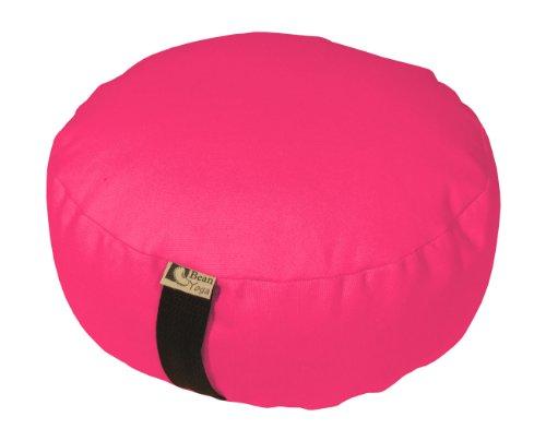 ヨガ フィットネス Bean Products Hibiscus - Oval Zafu Meditation Cushion - Yoga - 10oz Cotton - Organic Buckwheat Fill - Made in USAヨガ フィットネス