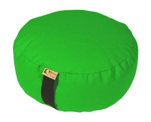 ヨガ フィットネス Bean Products Lime - Oval Zafu Meditation Cushion - Yoga - 10oz Cotton - Organic Buckwheat Fill - Made in USAヨガ フィットネス