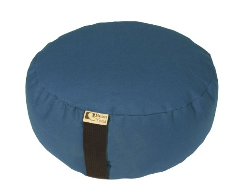 ヨガ フィットネス 【送料無料】Bean Products Zafu Mediation Yoga Organic Buckwheat Fill 10oz Cotton Made in USA - Medium Blue, Large 18
