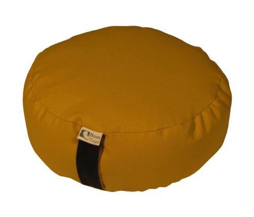 ヨガ フィットネス Bean Products Nutmeg - Round Zafu Meditation Cushion - Yoga - 10oz Cotton - Organic Buckwheat Fill - Made in USAヨガ フィットネス