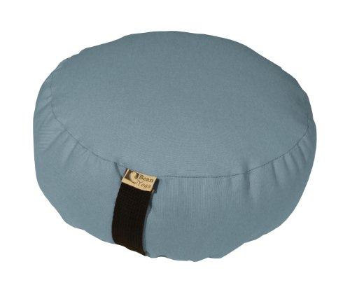ヨガ フィットネス Bean Products PERIWINKLE - Oval Zafu Meditation Cushion - Yoga - 10oz Cotton - Organic Buckwheat Fill - Made in USAヨガ フィットネス