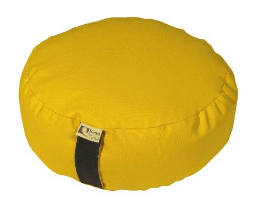 ヨガ フィットネス Bean Products Buttercup - Oval Zafu Meditation Cushion - Yoga - 10oz Cotton - Organic Buckwheat Fill - Made in USAヨガ フィットネス