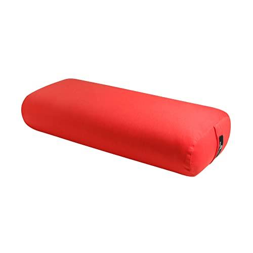 ヨガ フィットネス BO-STNDRD-SOLID-POPPY Hugger Mugger Standard Yoga Bolster (Poppy) | Rectangular Restorative Pillow | Very Firm | Handmade in the USAヨガ フィットネス BO-STNDRD-SOLID-POPPY