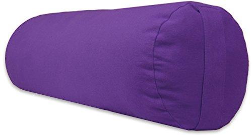 ヨガ フィットネス 【送料無料】YogaAccessories Supportive Round Cotton Yoga Bolster - Purpleヨガ フィットネス