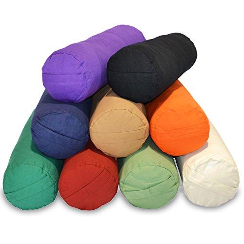 ヨガ フィットネス YogaAccessories Supportive Round Cotton Yoga Bolster - Off Whiteヨガ フィットネス