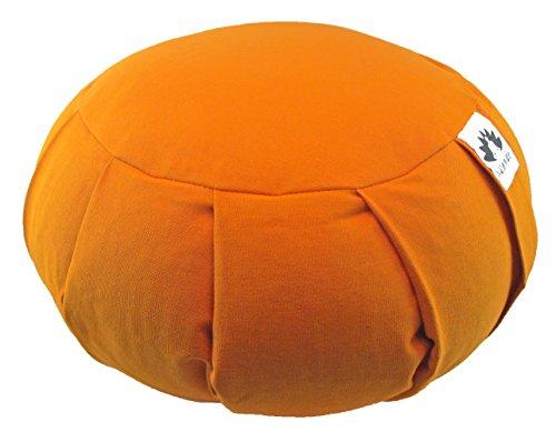 ヨガ フィットネス Waterglider International Zafu Yoga Meditation Pillow with USA Buckwheat Fill, Cotton- 6 Colors (Orange Saffron)ヨガ フィットネス