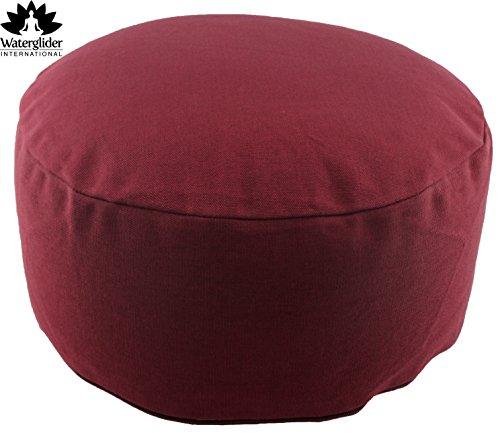 ヨガ フィットネス Waterglider International Zafu Organic Cotton Meditation Pillow: Rondo Style with Liner- 6 Colors (Burgundy, standard 12 inch)ヨガ フィットネス